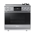 "36"" Pro Dual-Fuel Steam Range, Silver Stainless Steel, Liquid Propane/High Altitude Product Image"