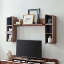 Omnistand Wall Mounted Shelves in Walnut Gray