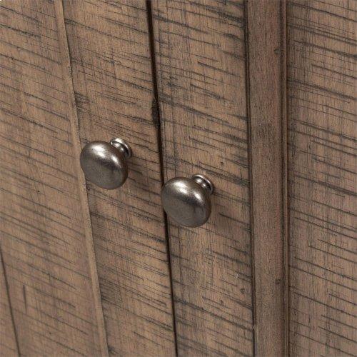 4 Door Accent Cabinet - Brown