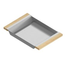 Tray 205333 - Stainless steel sink accessory , Maple