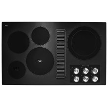 """36"""" Electric Downdraft Cooktop with 5 Elements - Black"""