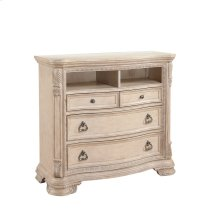Emerald Home Riviera Media Chest Alabaster B521-06