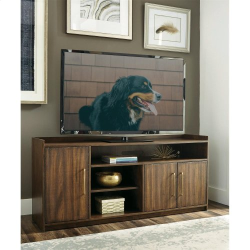 Dekker - 66-inch TV Console - Roasted Walnut Finish