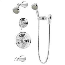 Symmons Carrington® Tub/Shower/Hand Shower System - Polished Chrome