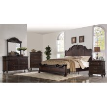 Nottingham King Bedroom Set: King Bed, Nightstand, Dresser & Mirror