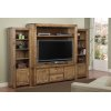 Contempo HDTV Console With Hutch, With Bookcase Each Side