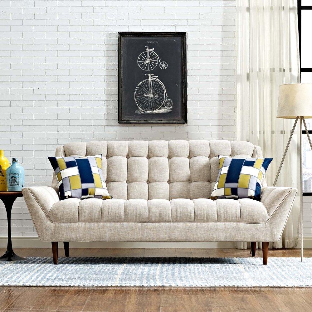Response Upholstered Fabric Loveseat in Beige
