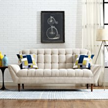 Response Upholstered Fabric Loveseat in Beige