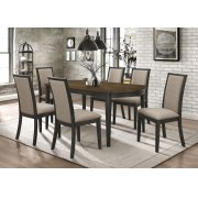 Clarksville Transitional Burned Amber and Rubbed Charcoal Dining Table Product Image
