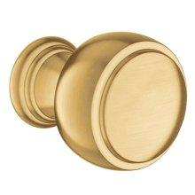 Weymouth brushed gold drawer knob