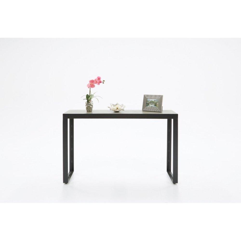 Modrest Kiko Modern Concrete & Black Console Table