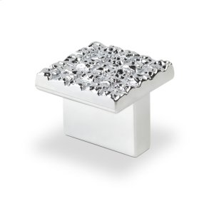 Mosaic Design Square Knob, Bright Chrome, 25mmx25mm Product Image