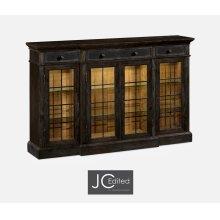 Four Door China Display Cabinet in Dark Ale