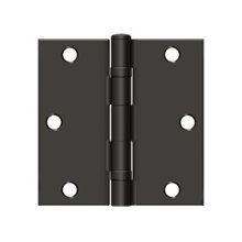 """3-1/2""""x3-1/2"""" Square Hinge, Ball Bearing - Oil-rubbed Bronze"""