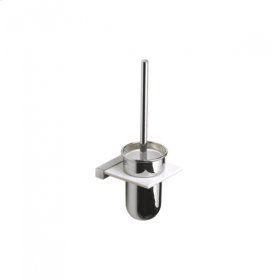 AS160 - Toilet Brush with Wall Mounted Corian holder - Brushed Nickel