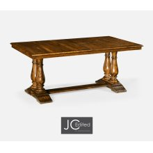 "71"" Country Walnut Rectangular Extending Dining Table"