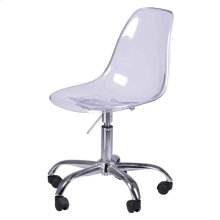 Allen Molded PC Office Chair, Transparent Crystal