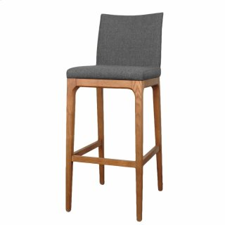 Devon KD Fabric Bar stool Walnut Legs, Night Shade