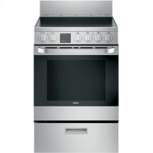 "24"" 2.9 Cu. Ft. Electric Free-Standing Range with Convection and Modular Backguard"