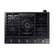 "36"" Chef Collection Gas Cooktop with 22K BTU Dual Power Burner in Matte Black Stainless Steel Product Image"