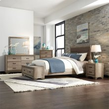 King Storage Bed, Dresser & Mirror, Chest, N/S