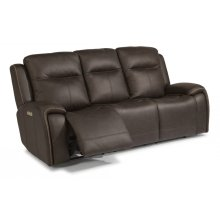 Solo Leather Power Reclining Sofa with Power Headrests
