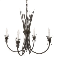 Rush Iron 4 Arm Chandelier