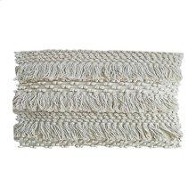 "Marley Fringe Lumbar Pillow (21"" X 13"") - Oatmeal"