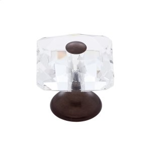 Old World Bronze 28 mm Square Crystal Knob Product Image
