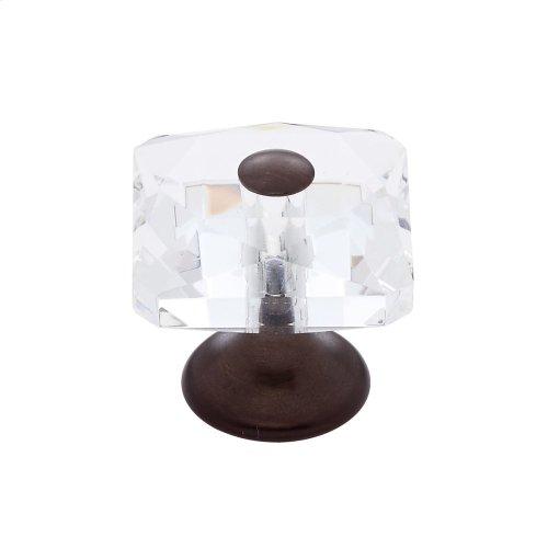 Old World Bronze 28 mm Square Crystal Knob
