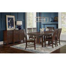 Trestle Table and 4 Side Chairs