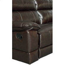 Manual Motion Leather Loveseat
