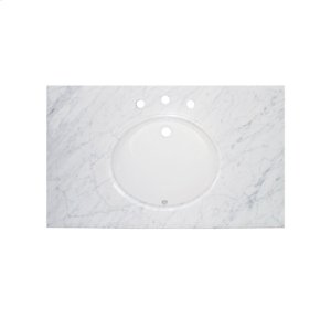 """43"""" White Carrera (WC) - Marble Top Product Image"""