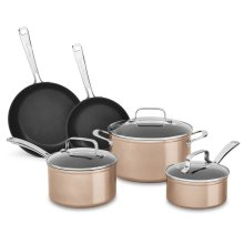 Hard Anodized Non-Stick 8-Piece Set - Toffee Delight