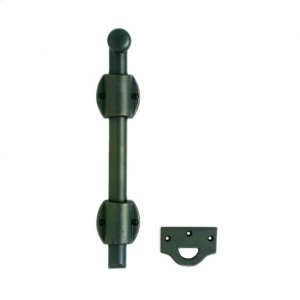 "Surface Bolt with Oval Mounting Bracket and 1"" Bolt - MB1 Silicon Bronze Brushed Product Image"