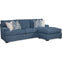 Cambria Estate Sofa with Reversible Ottoman