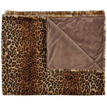 "Fur Fl102 Brown 50"" X 60"" Throw Blanket"