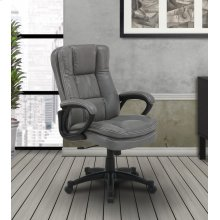 DC#204-FOG - DESK CHAIR Fabric Desk Chair