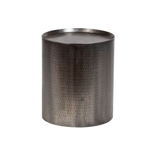 Rotonde Hammered Metal End Table