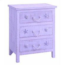 Bayside Blue Shell 3 Drawer Chest