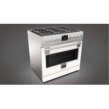 "36"" Dual Fuel Pro Range - Glossy White"