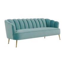 Daisy Petite Sea Blue Velvet Sofa