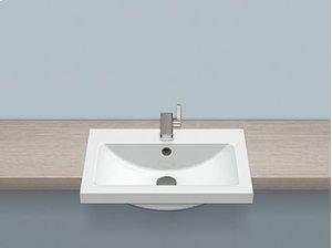 Semi-recessed basin Product Image