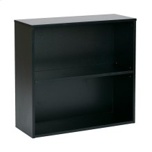"Prado 30"" 2 Shelf Bookcase, 3/4"" Shelf Black"
