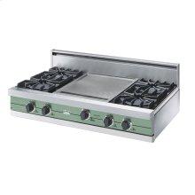 """Sage 42"""" Open Burner Rangetop - VGRT (42"""" wide, four burners 18"""" wide griddle/simmer plate)"""