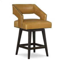 Leather Swivel Counter Stool