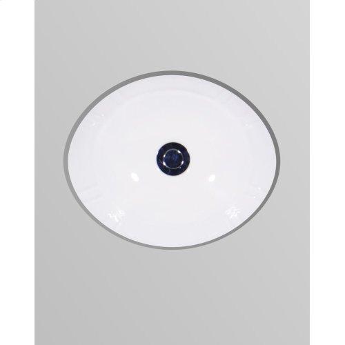 White ANTIGUA Undermount Lavatory 17'' x 14''