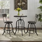 Gather 3 Piece Dining Set in Black Product Image