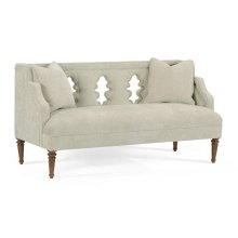 Buckingham Bleached Mahogany Cut-out Sofa, Upholstered in Doe