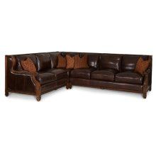 2Pc.Leather RAF Sofa & LAF Loveseat